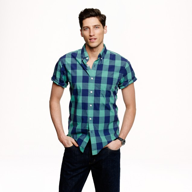 Short-sleeve shirt in wild pacific gingham