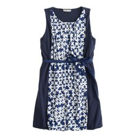 Girls' colorblock printed dress