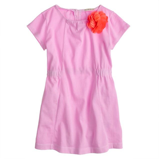 Girls' corsage T-shirt dress