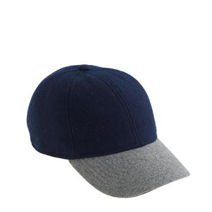 Boys' wool colorblock baseball cap