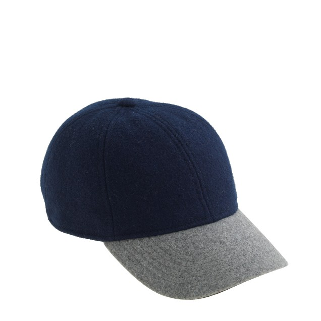 Boys' wool colorblock baseball cap