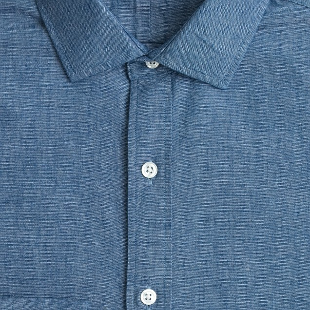 Albiate 1830 for J.Crew Ludlow spread-collar shirt in Italian chambray