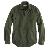 Wallace & Barnes broken-in chino utility shirt