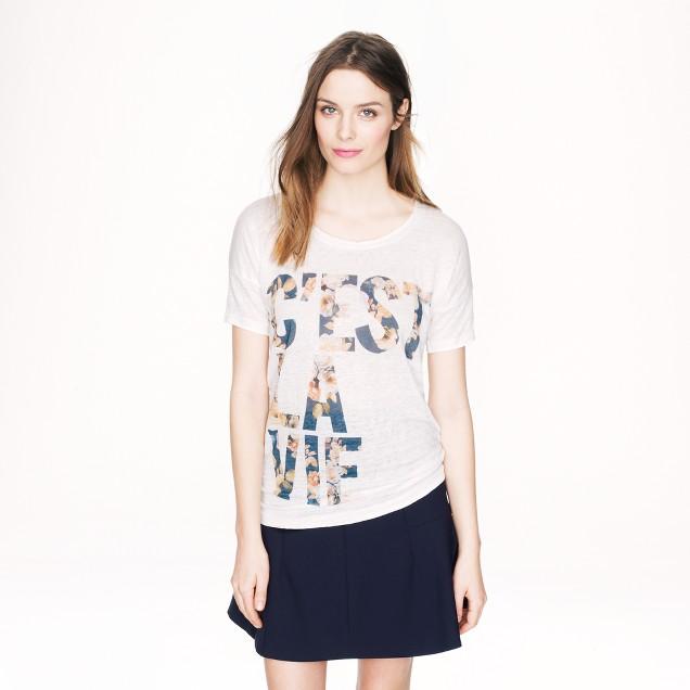Linen c'est la vie T-shirt