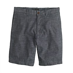 "9"" Stanton short in pindot chambray"