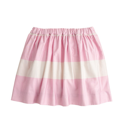 Girls' cotton sateen stripe skirt