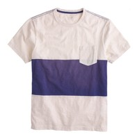 Pieced pocket T-shirt