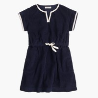 Girls' terry beach dress