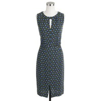 Keyhole dress in square dot