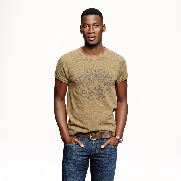 Wallace & Barnes graphic athletic T-shirt