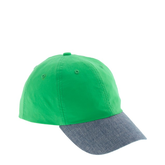 Kids' colorblock baseball cap