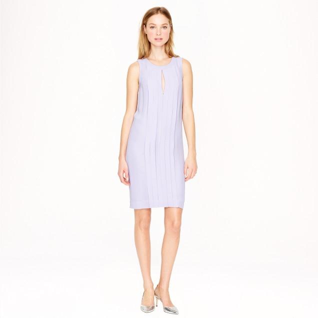 Sleeveless crepe shift dress