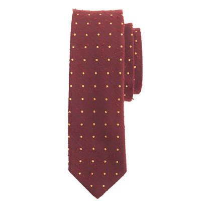 English silk tie in dot