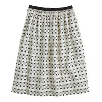 Collection frayed dot skirt
