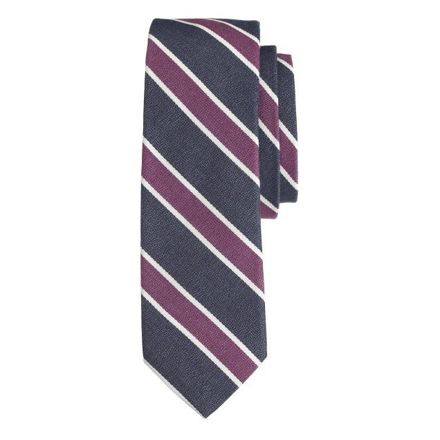 English cotton tie in bold stripe