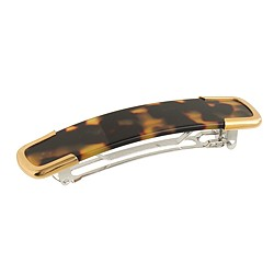 Golden-trim tortoise barrette