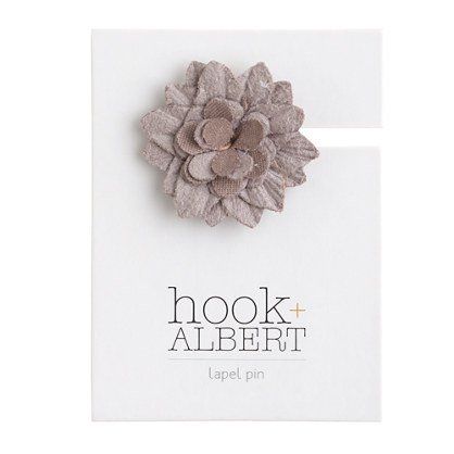 hook + ALBERT™ suede lapel pin