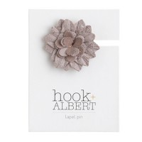 hook + ALBERT™ suede lapel pin