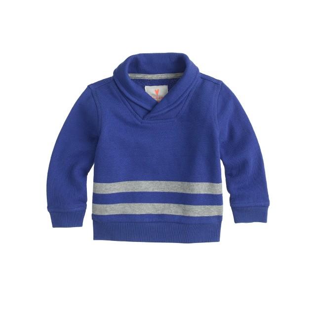 Baby shawl-collar stripe popover