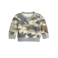 Baby sweatshirt in camo