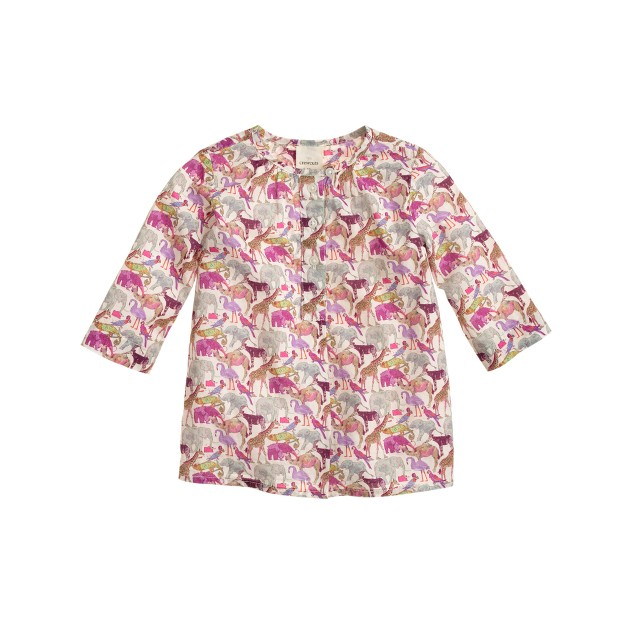 Baby tunic in Liberty queue for the zoo