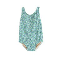 Baby one-piece swimsuit in flowerpatch print