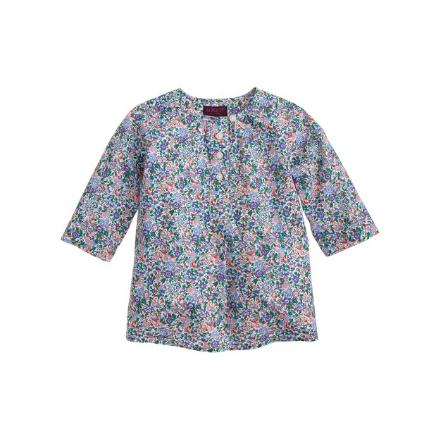 Baby tunic in Liberty Emma and Georgina floral
