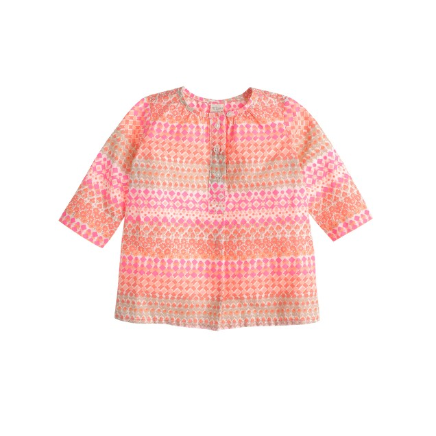 Baby tunic in geometric floral
