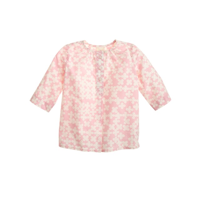 Baby tunic in clover print