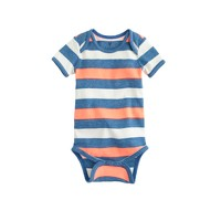 Baby one-piece in sapphire stripe