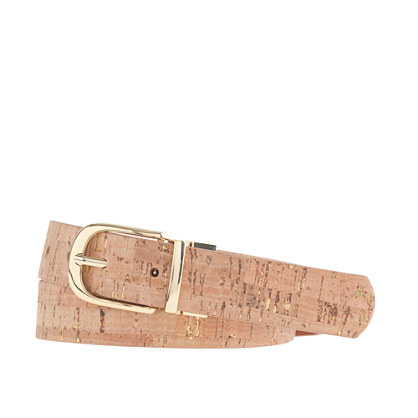 Reversible cork and leather belt