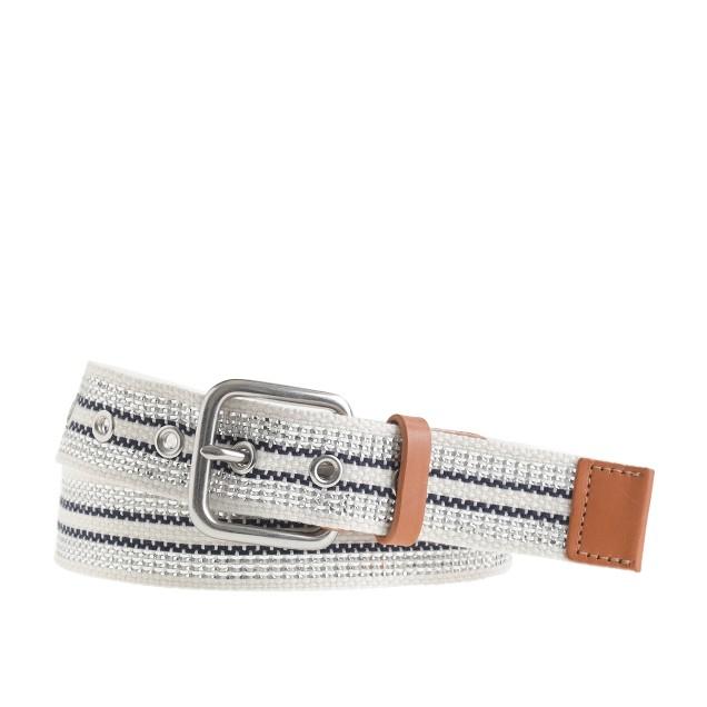 Woven stripe belt