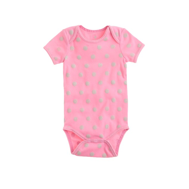 Baby one-piece in pink dot