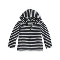 Baby terry hoodie in stripe