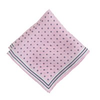 Italian linen pocket square in Liberty floral dot
