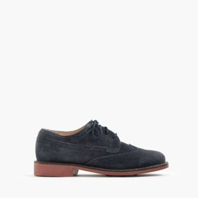 Kids' suede wing tips