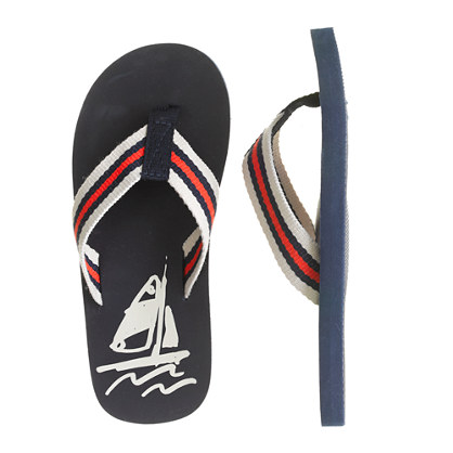 Kids' sail on flip-flops