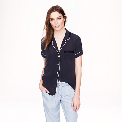 Collection silk short-sleeve pajama top
