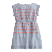 Girls' pink-stripe dress
