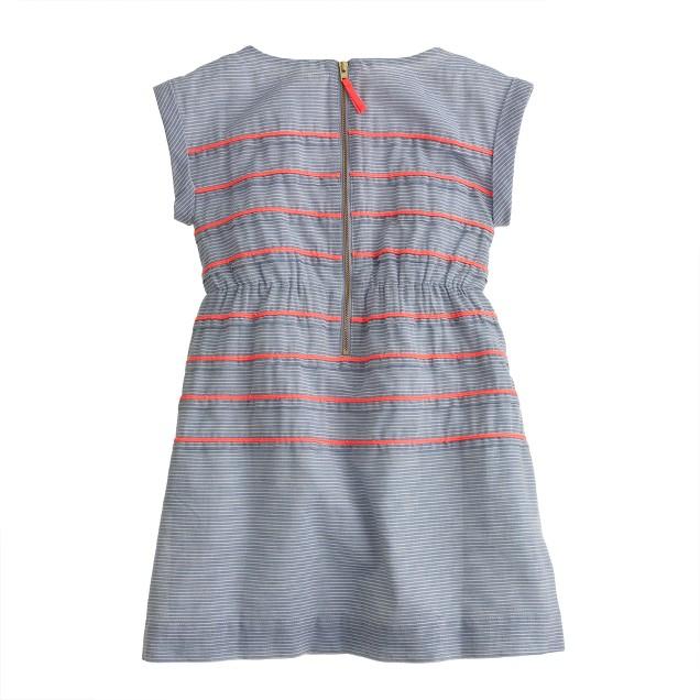 Girls' pink-stripe dress
