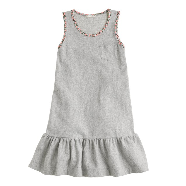 Girls' skirted pocket tankdress