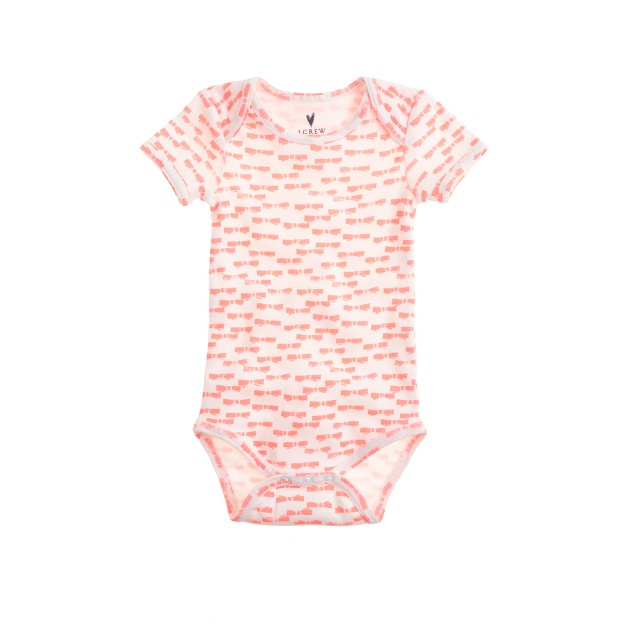 Baby one-piece in neon bow