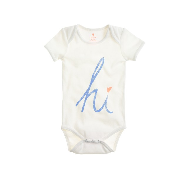 "Baby one-piece in ""hi"""