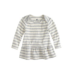Baby long-sleeve ruffle shirt in stripe