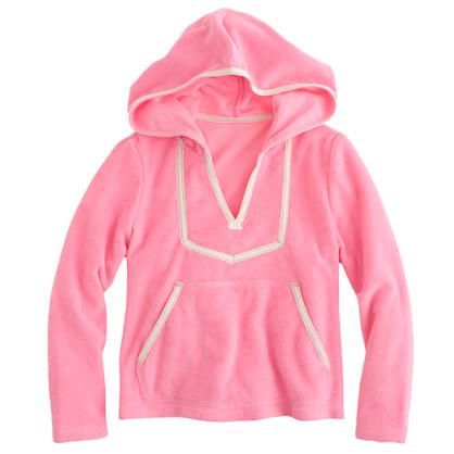 Girls' terry hoodie