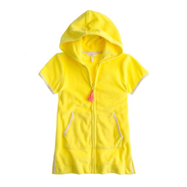Girls' terry zip-up hoodie
