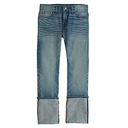 Point Sur slim stacker Japanese selvedge jean in klutey wash