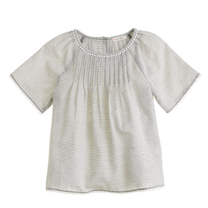 Girls' Pom-Pom stripe Tunic
