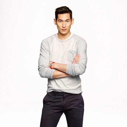 Lightweight colorblock sweatshirt