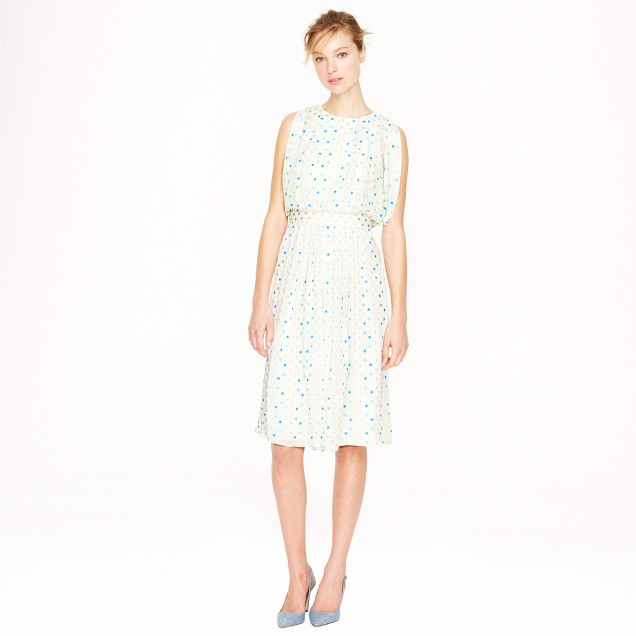 Collection draped dress in wonderdot